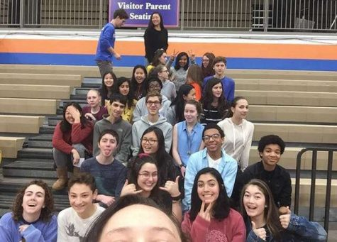 CHS Volunteen poses for a group picture on club picture day.