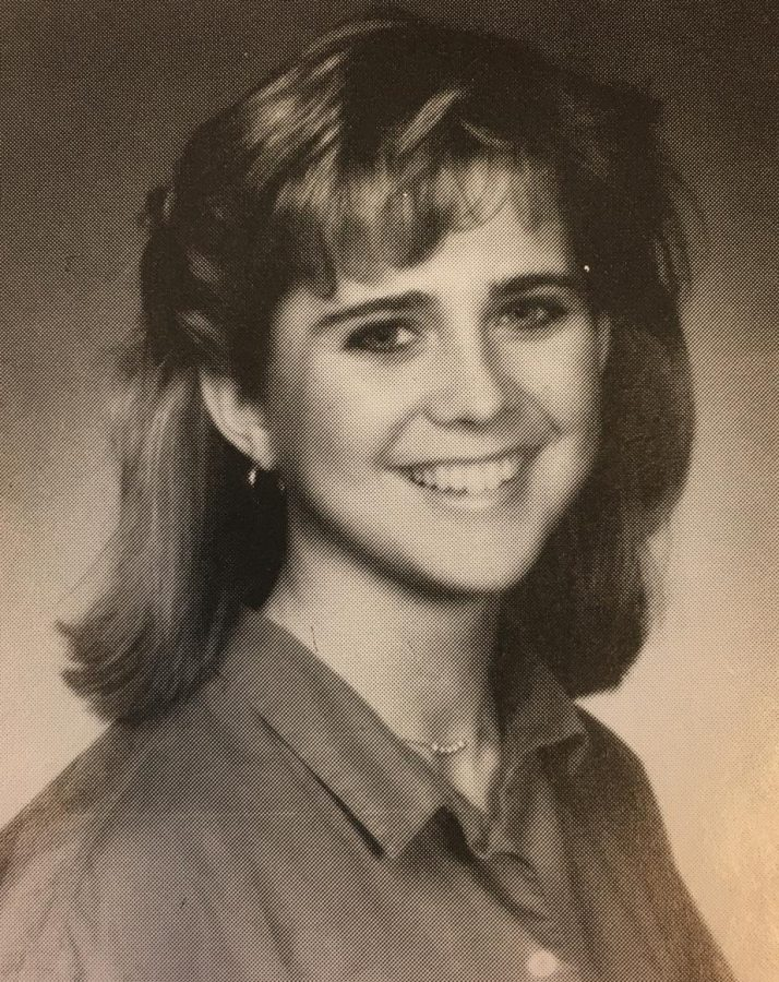 Louise Post, Class of 1985, plays in the band
