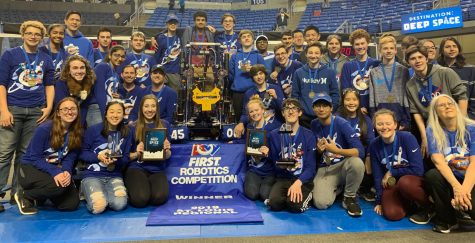 The 2019 CHS Robohounds pose for a photo after their victory in St. Louis.
