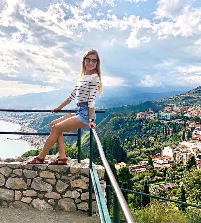Sara Garfinkel, Class of 2012, travels the world as a performer on a luxury cruise ship.