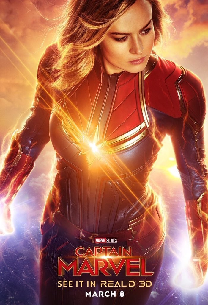 Captain Marvel Movie Poster from Marvel Studios