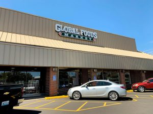 Front of Global Foods Market in Kirkwood, St. Louis on Saturday, September 14.