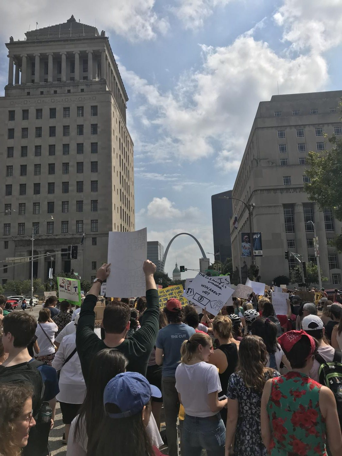 St. Louis participated in a climate march on Friday, September 20. The march took place on Market Street in downtown St. Louis.