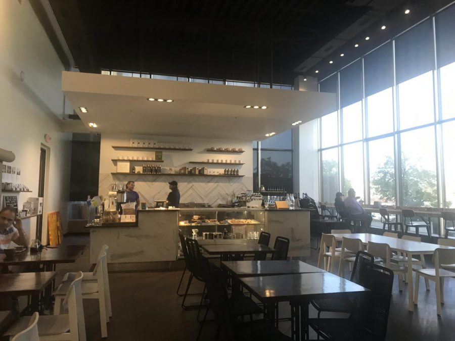 Photo of COMA Coffee's interior, located  on Brentwood Boulevard.