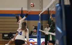 Navigation to Story: Clayton Girls Volleyball Team advances in Districts
