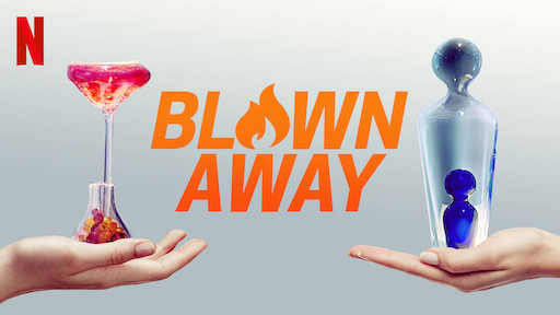 Photo from Netflix website depicting the glass-blowing show, 'Blown Away'