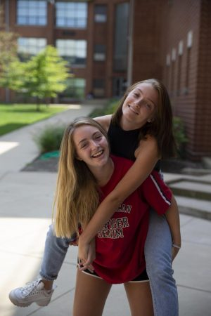 Grace Snelling and Lila Taylor, the editors in chiefs of the Globe for 2019-2020.