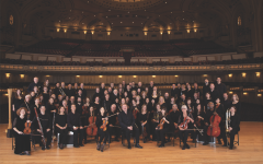 Musicians from the SLSO before Powell Hall closed.