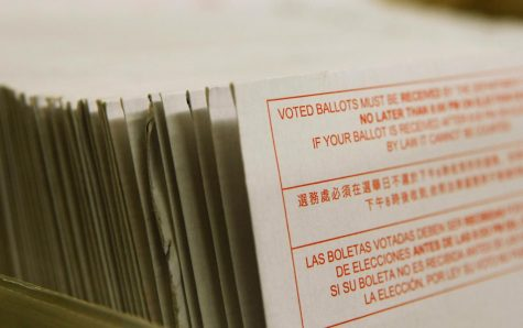 Vote-by-mail ballots at the San Francisco Department of Elections in 2008. COVID-19 has made absentee voting a pressing issue this year.
