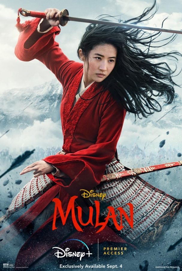 Mulan Official Movie Poster, a movie based on the animated film of the same name