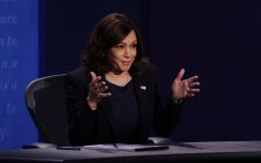 Democratic vice presidential nominee Sen. Kamala Harris (D-CA) participates in the vice presidential debate at the University of Utah on October 7, 2020, in Salt Lake City, Utah.