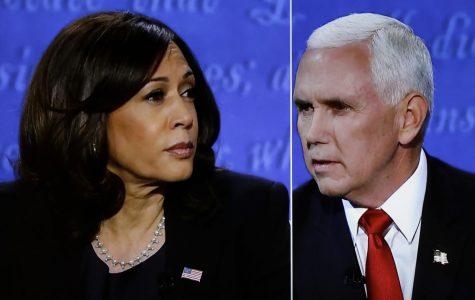 The vice presidential campaign debate between Democratic vice presidential nominee Sen. Kamala Harris (D-CA) and Vice President Mike Pence in Salt Lake City, Utah, is seen on TV in Washington, D.C., on Wednesday, Oct. 7, 2020.