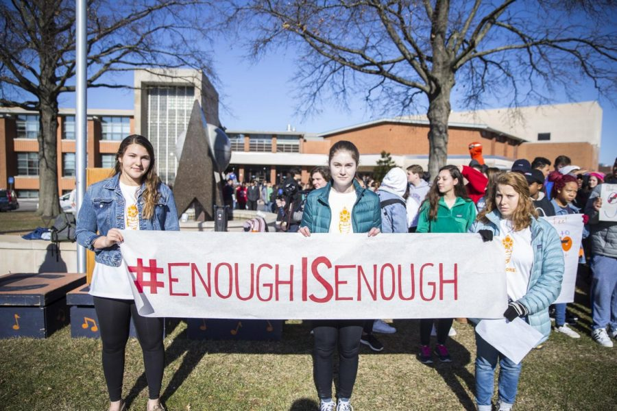 CHS students protesting gun violence in 2018