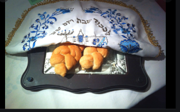 A loaf of challah bread for Shabbat.